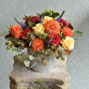 Photo showing a sample of a Bucket of Flowers mixed colours from Kensington flowers, London