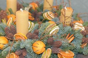Advent wreath rustic