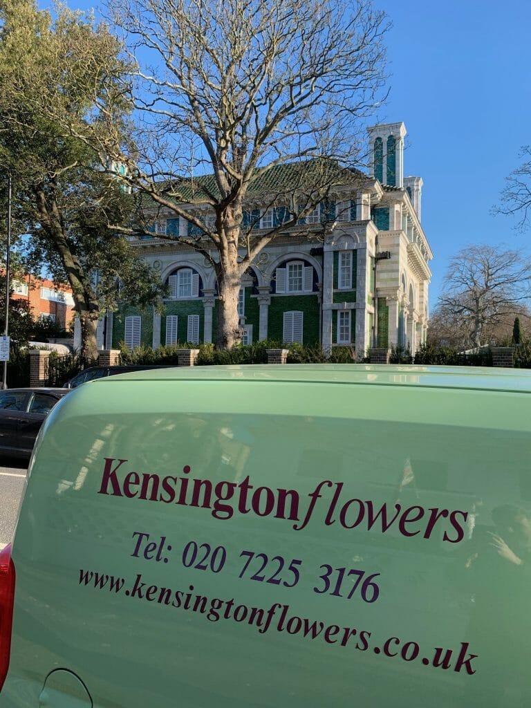 Kensington flowers eco van flowers delivery London