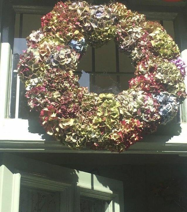 KF Studio Dried Hydrangea wreath