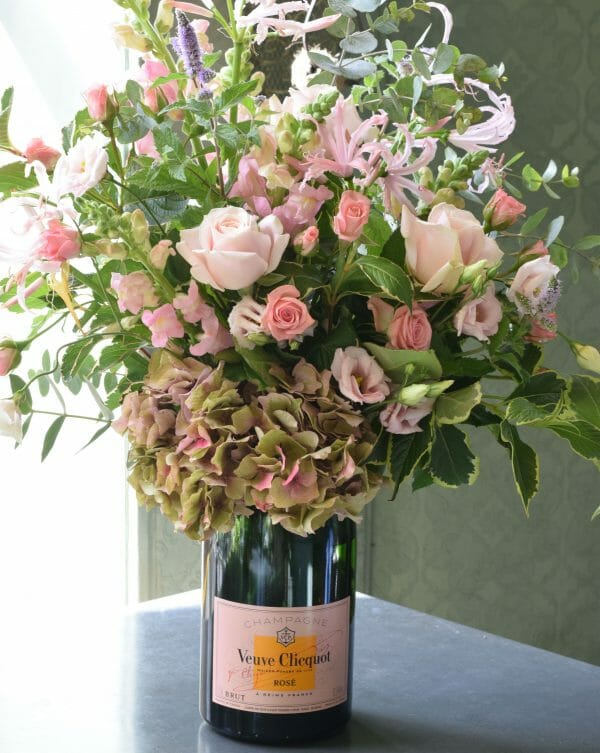 Champagne flower bottle Rose Magnum