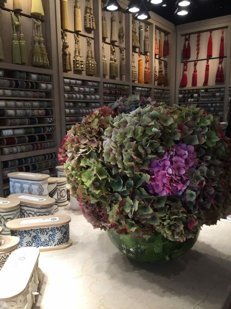 Samuel and Sons Hydrangea vase arrangement for Focus 19