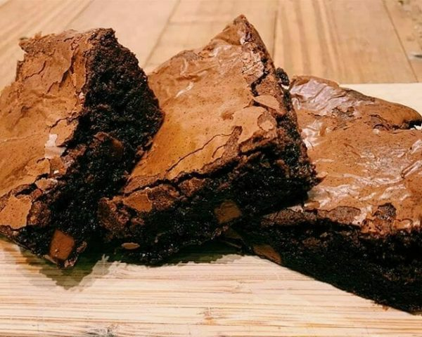 Photo showing a sample of Balham Bakes chocolate brownies